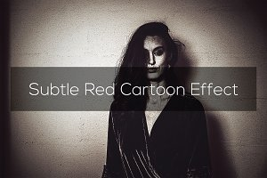 Subtle Red Cartoon Effect