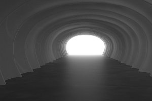 Light at End of Tunnel 3d illustration