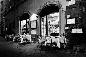 Italian Restaurant in Lucca, Italy