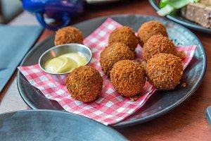 Bitterballen, a typically Dutch food croquet
