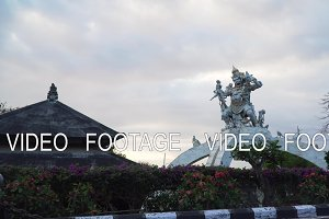 Statue God in Pura Uluwatu temple Bali,Indonesia.
