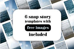 6 ocean insta story templates