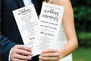 Editable PDF - Wedding Program