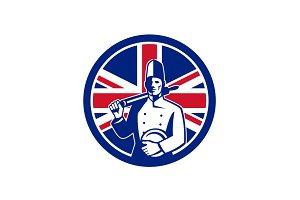 British Baker Union Jack Flag Icon