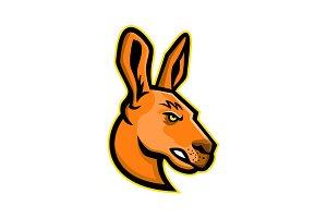 Kangaroo Head Mascot