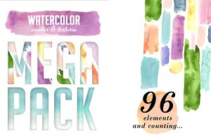 Watercolor Textures MEGA PACK
