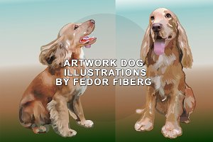 Hunting dog Spaniel beautiful vector