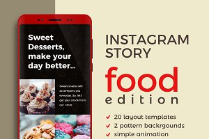 Instagram Story Template | Food