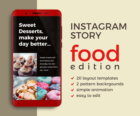 Instagram Story Template | Food
