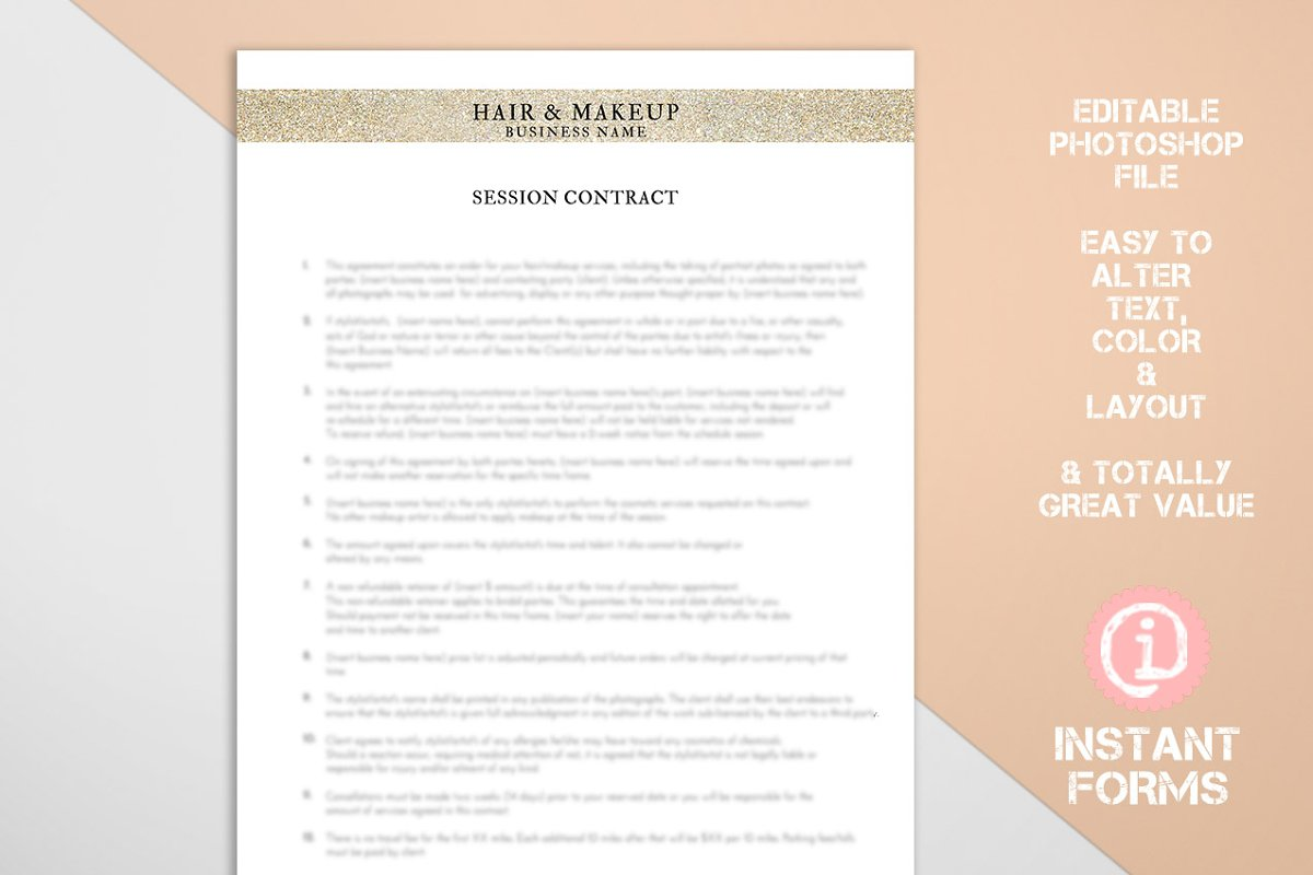 Makeup Artist And Hair Stylist Forms Stationery Templates