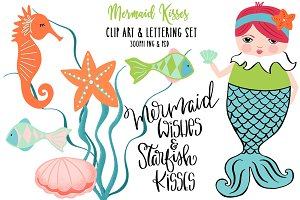 Mermaid Kisses Graphics & Lettering