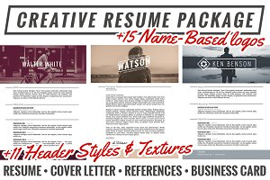 Creative Resume Package + Extras