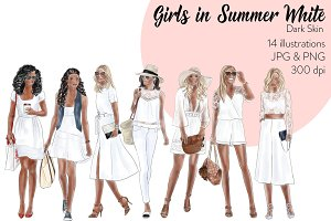 Girls in Summer Whites - Dark Skin