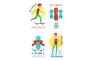 Go Play Do Skateboarding, 21 June Colorful Poster