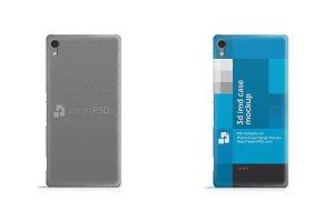 Sony Xperia C6 3d IMD Case Mockup