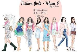 Fashion Girls 6 - Light Skin Clipart