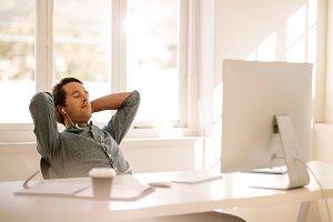 Freelance entrepreneur relaxing