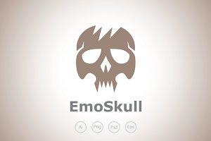 Emo Skull Logo Template