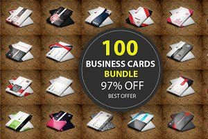 100 Business Cards Bundle