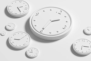 White clocks