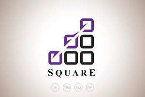 Shortcut Squares Logo Template