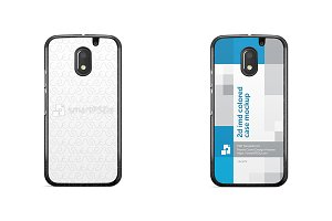 Moto E3 2d IMD Colored Mobile Case