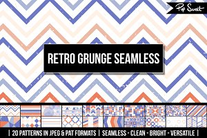 20 Seamless Retro Grunge Patterns