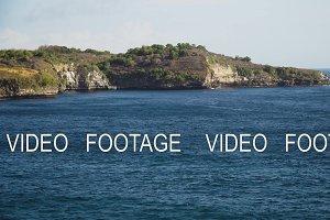 Seascape Cliffs, sea and waves at Nusa Penida, Bali, Indonesia