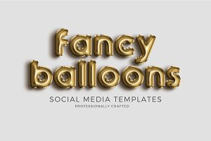 Foil Balloon Social Media Templates