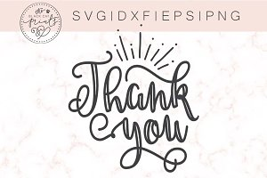 Thank you SVG DXF EPS PNG