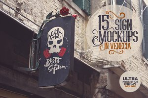 15 Sign Mockups in Venecia | 80%OFF