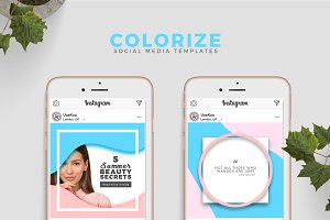 Colorful Social Media Templates
