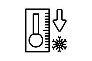 icon. Thermometer