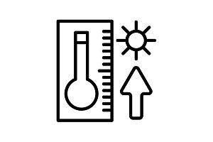 Web icon. Thermometer