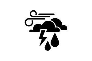 Web icon. Haze (storm), clouds, wind