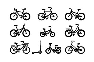 Bicycle Icons. Bike icon vector.