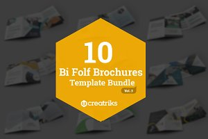 10 Bi Fold Brochures Bundle - Vol. 3