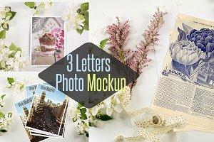 3 Letter photo mockup