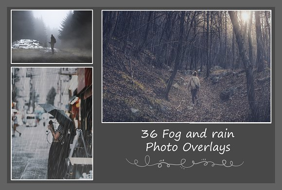 36 Fog And Rain Overlays