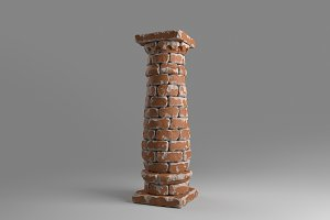 Bricked column