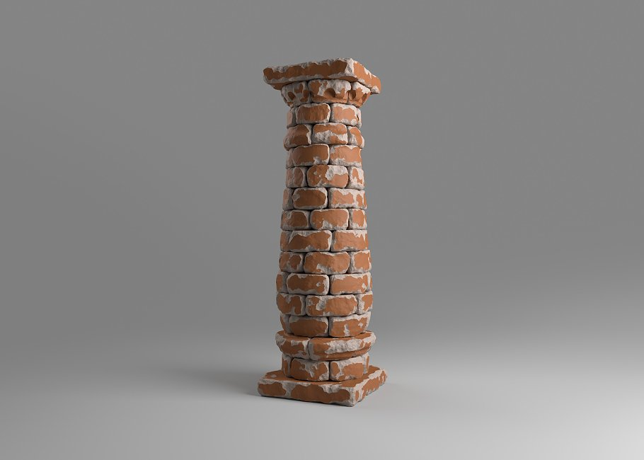 Bricked column