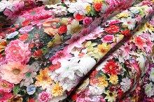 Flowers on a silk