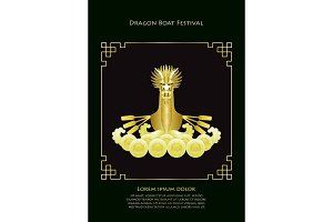 Dragon Boat Luxury Gold Template