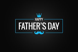 Fathers day banner black background