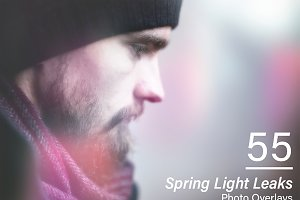 55 Spring Light Leaks Overlays