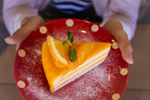 orange cake fruit