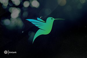 Blue Humming Bird Logo