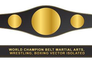 World champion belt vector isolated
