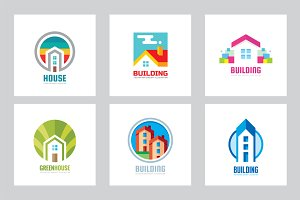House Building Vector Logo Set