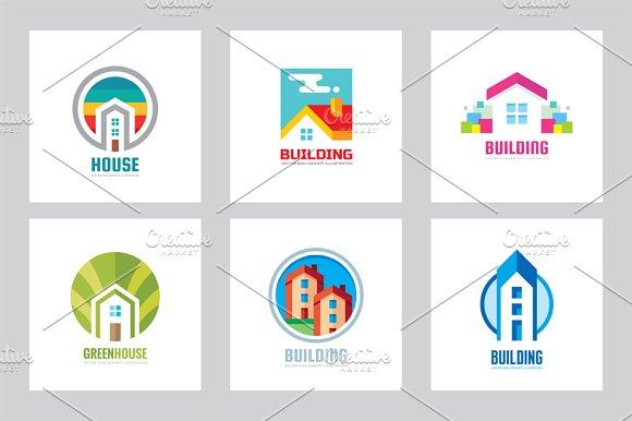 House Building Vector Logo Set